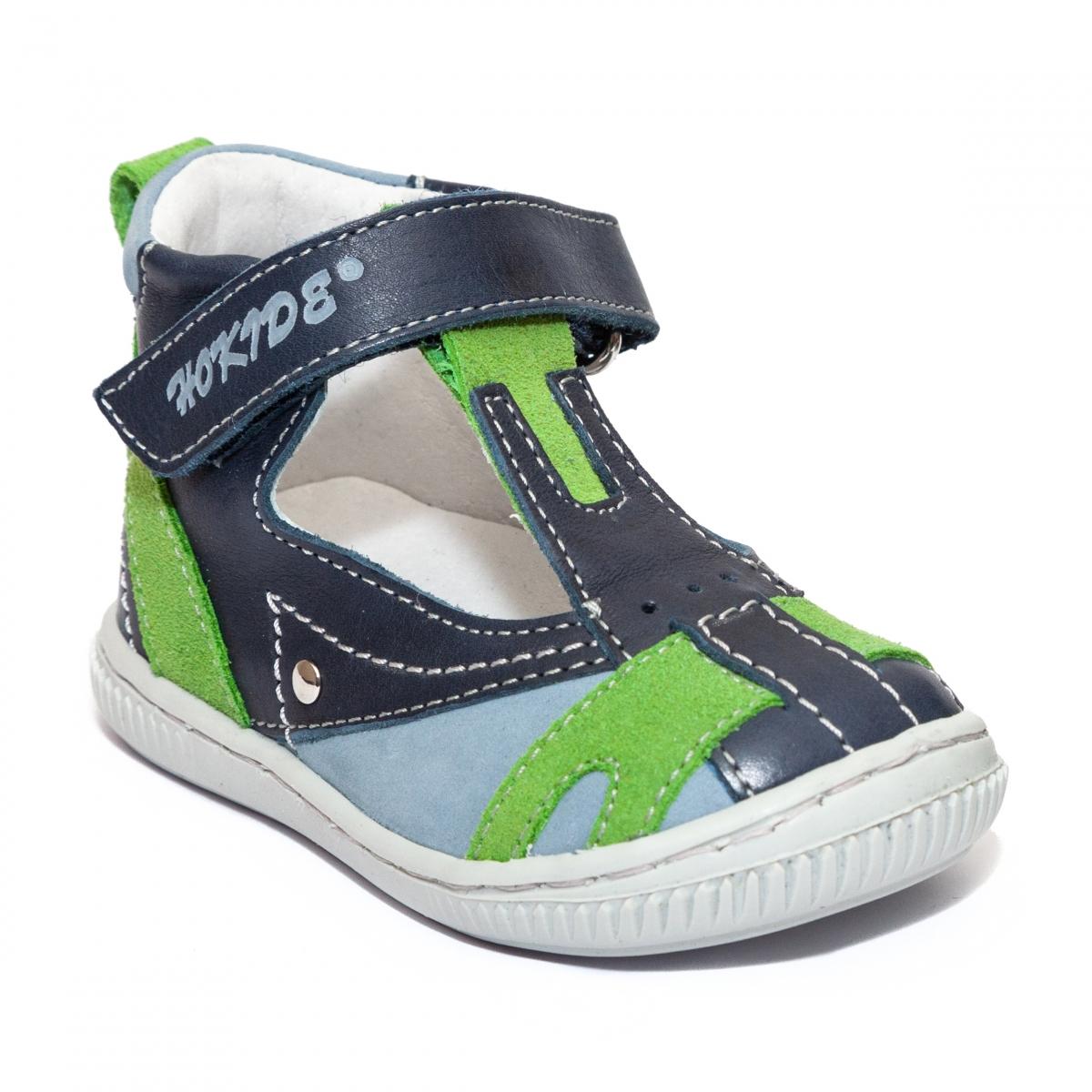 Sandale ortopedice baieti hokide 306 blu verde 18-25