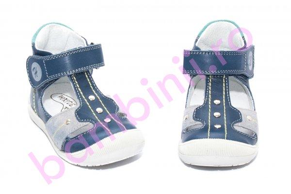 Sandale ortopedice copii 273 albastru gri turcoaz 18-24