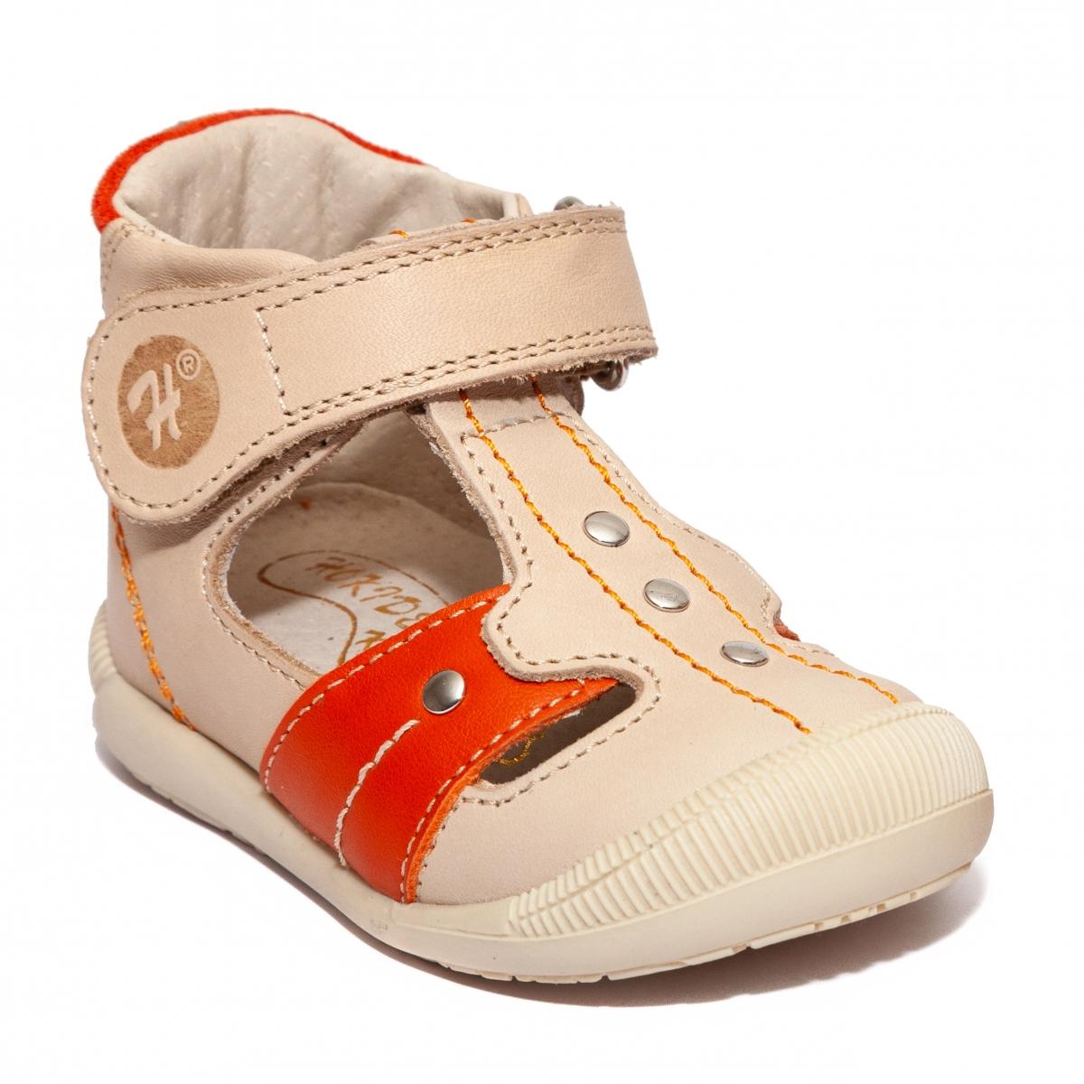Sandale ortopedice copii hokide 273 bej portocaliu 18-24