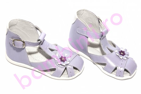 Sandale piele copii hokide 308 mov