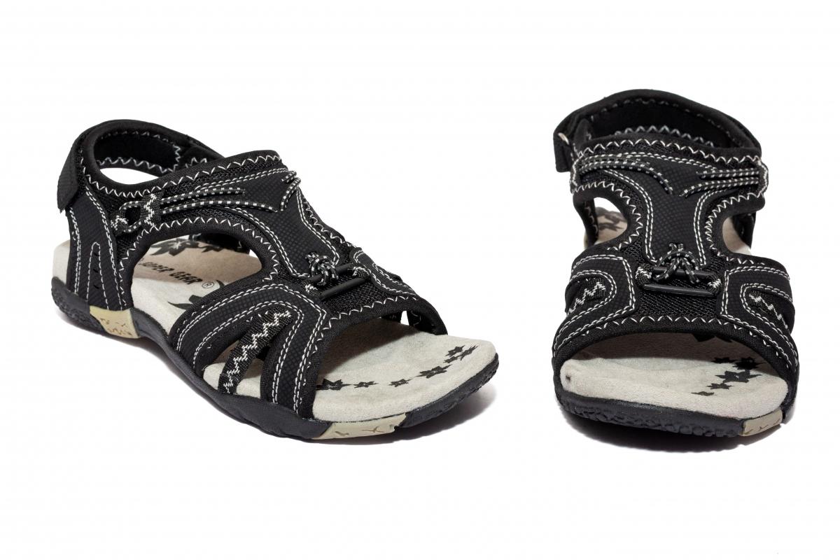 Sandale sport copii 557 negru alb 36-41