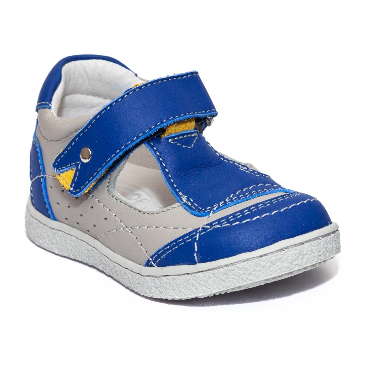 Sandalute baietei hokide 208 albastru gri 18-24