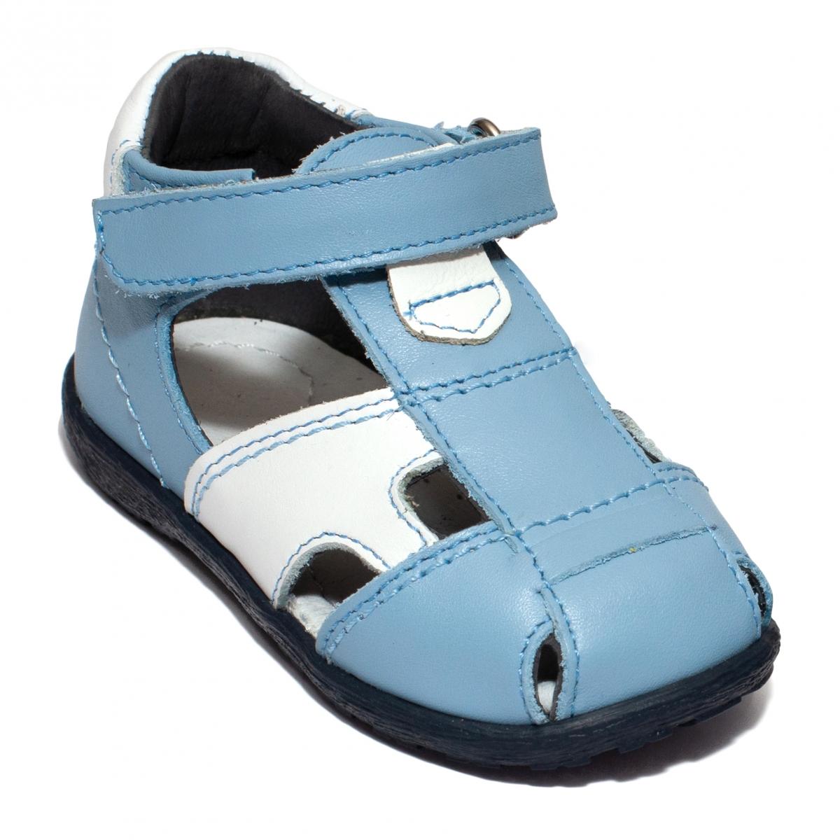 Sandalute baieti avus piele 741 albastru 18-26