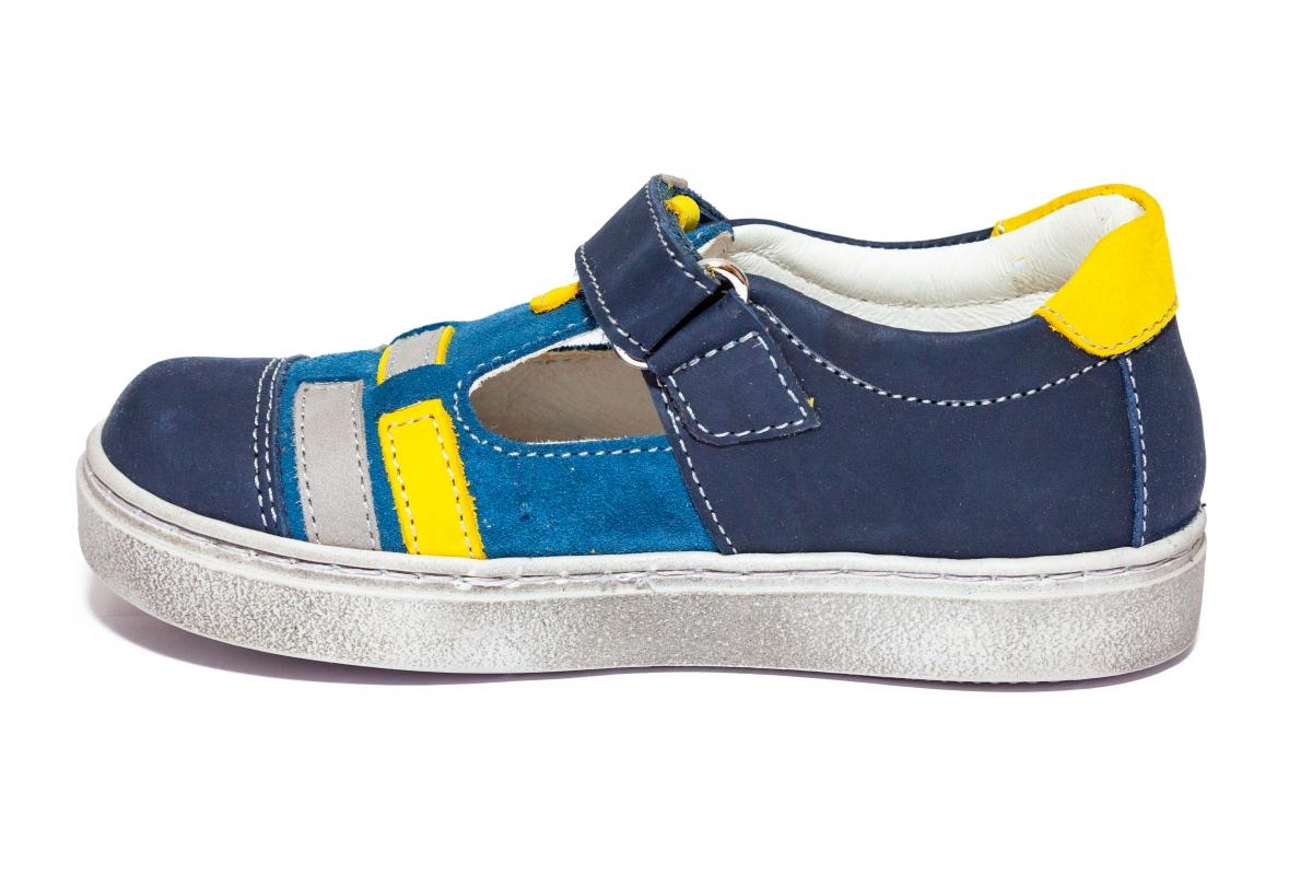Sandalute baieti hokide 382 blu galben 20-32