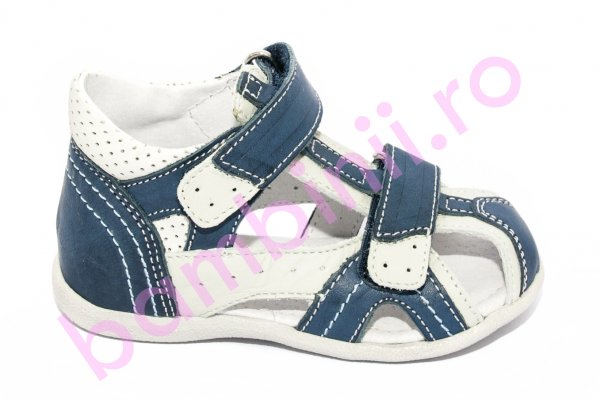 Sandalute baieti hokide picior lat 311 blu alb 18-24