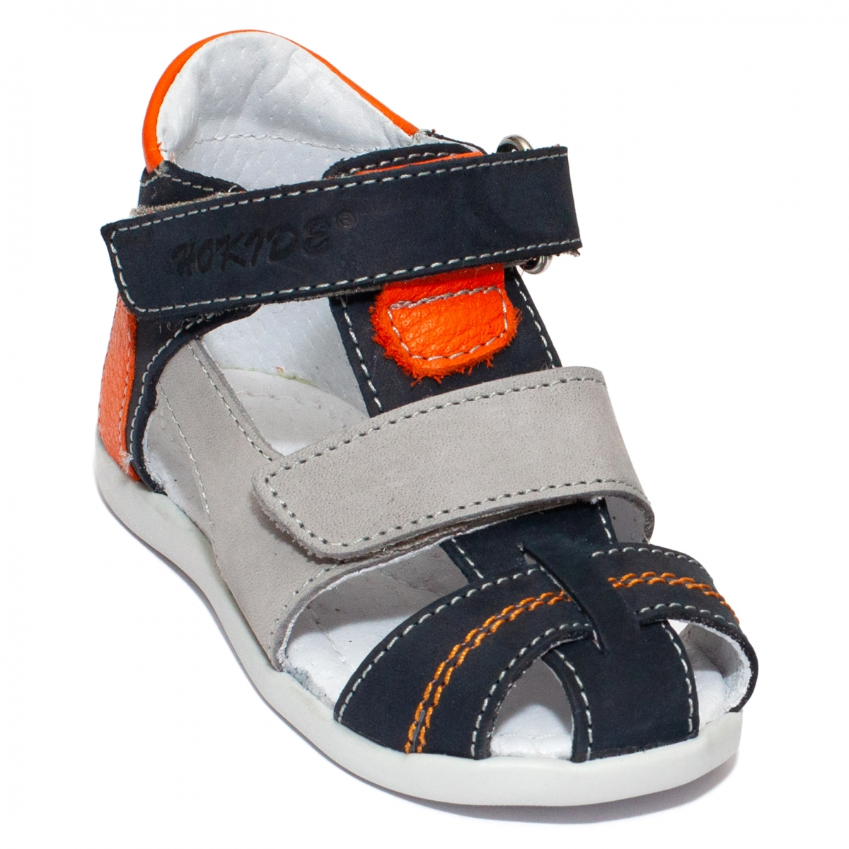 Sandalute baieti hokide picior lat 405 blu portocaliu 18-25