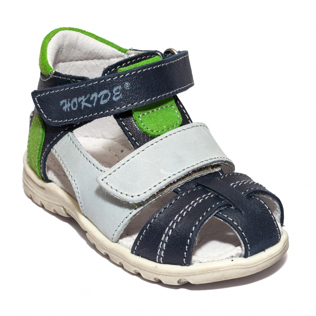 Sandalute baieti hokide picior lat 405 blu verde gri 18-27