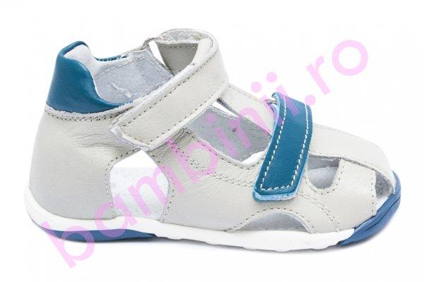 Sandalute baieti picior lat pj shoes Mario gri blu 18-26