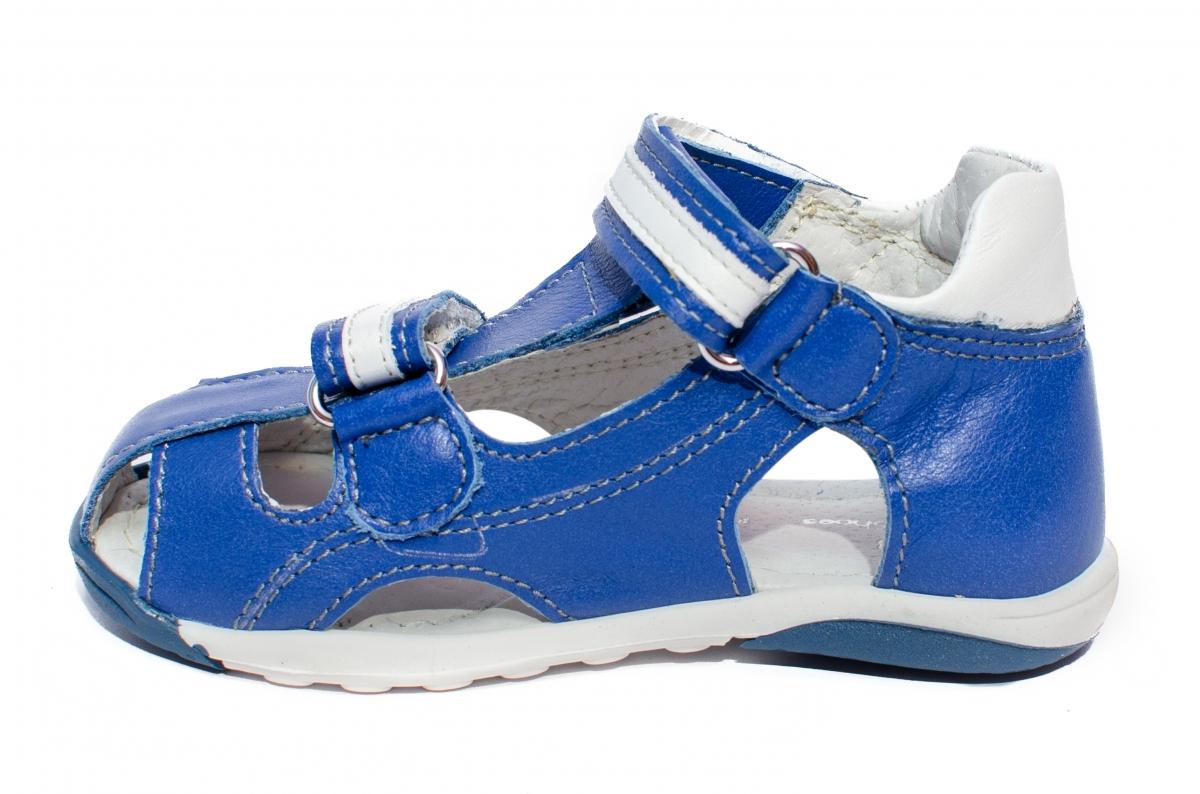 Sandalute baieti pj shoes Mario albastru 18-24