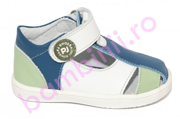 Sandalute baieti pj shoes Pablo blu alb verde 20-26