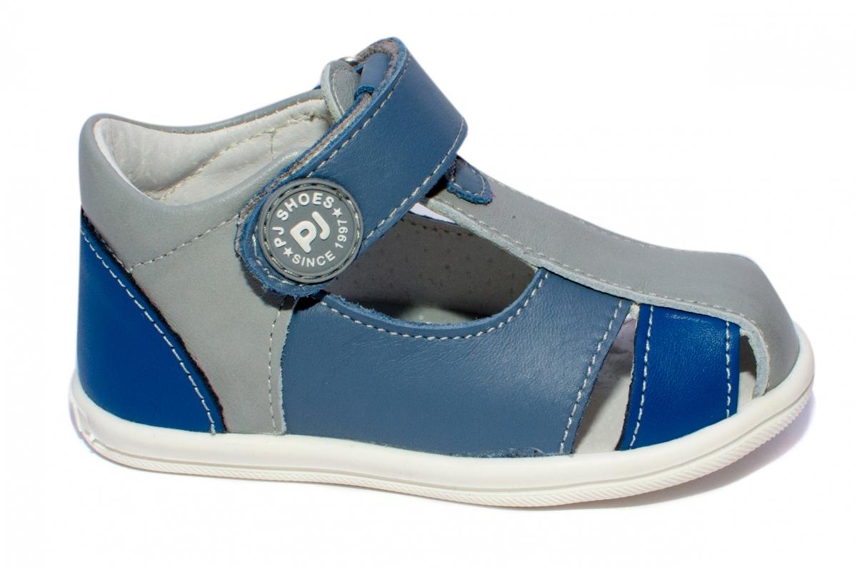 Sandalute baieti pj shoes Pablo blu gri 18-26