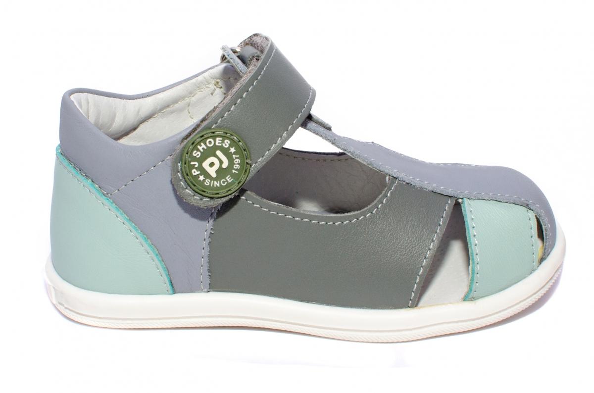 Sandalute baieti pj shoes Pablo gri cielo 18-26