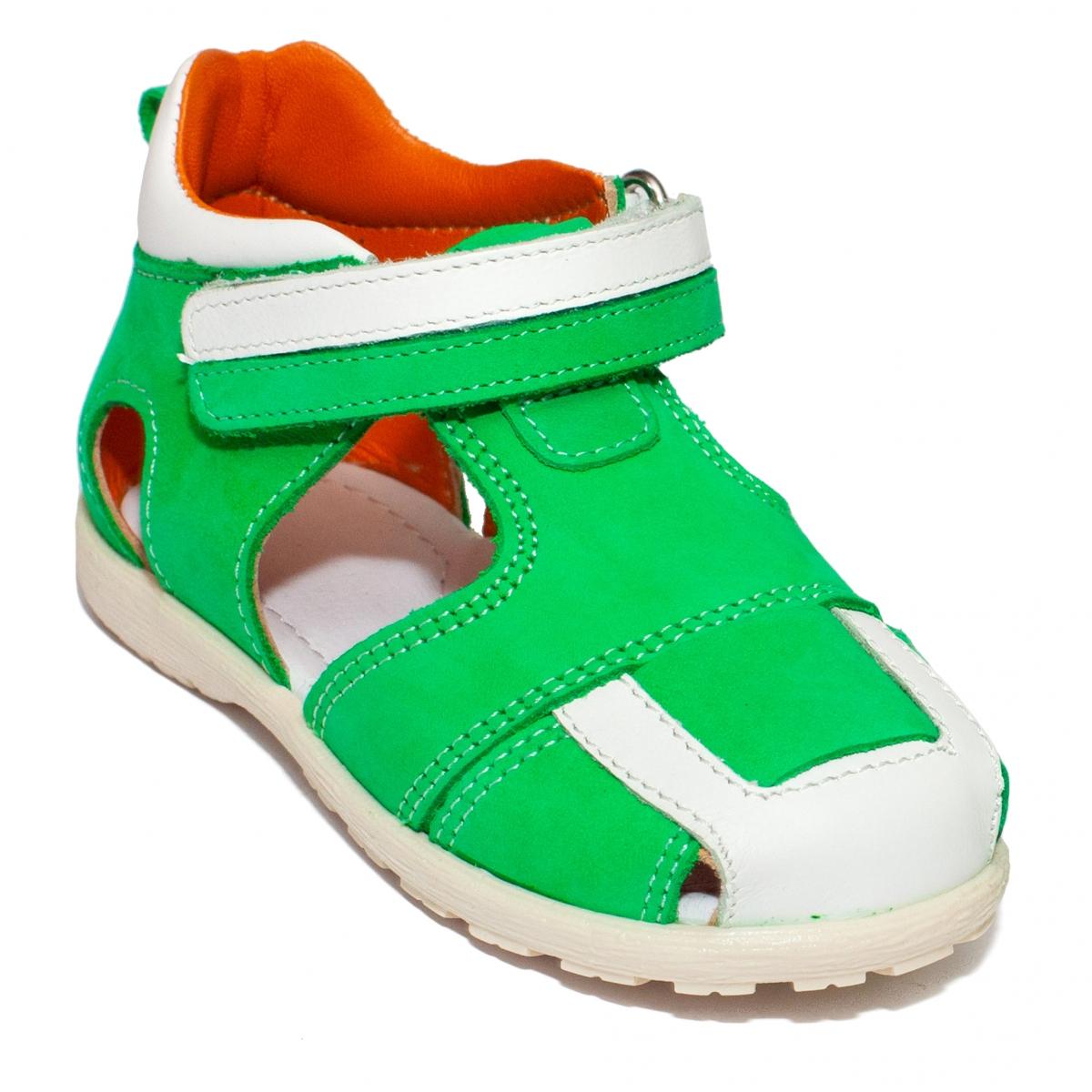 Sandalute copii avus 222 verde alb 18-27