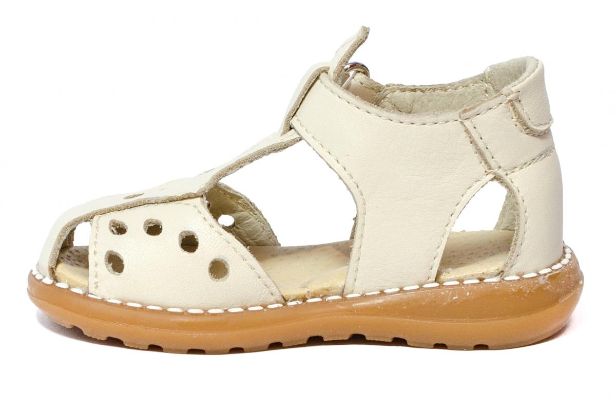 Sandalute copii cu talonet 345 bej 18-25