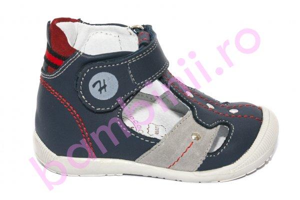 Sandalute ortopedice copii hokide 273 blu rosu 18-24