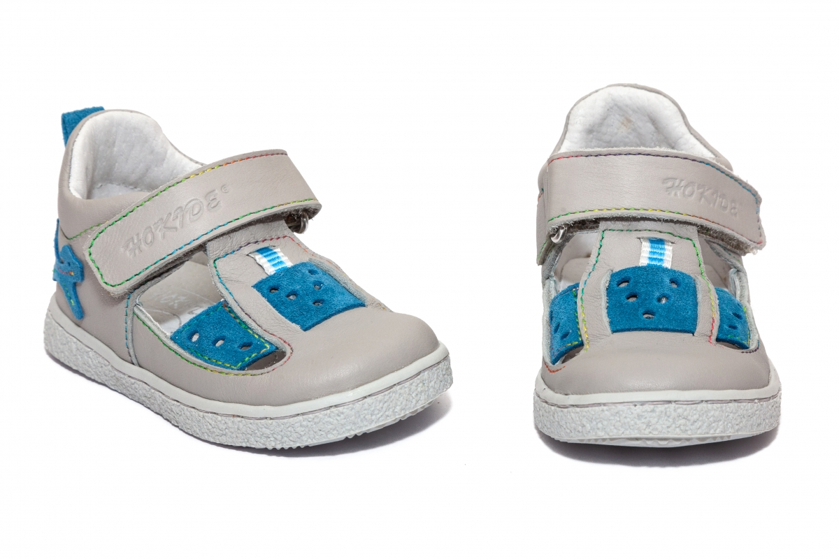 Sandalute copii hokide 433 gri albastru 18-24