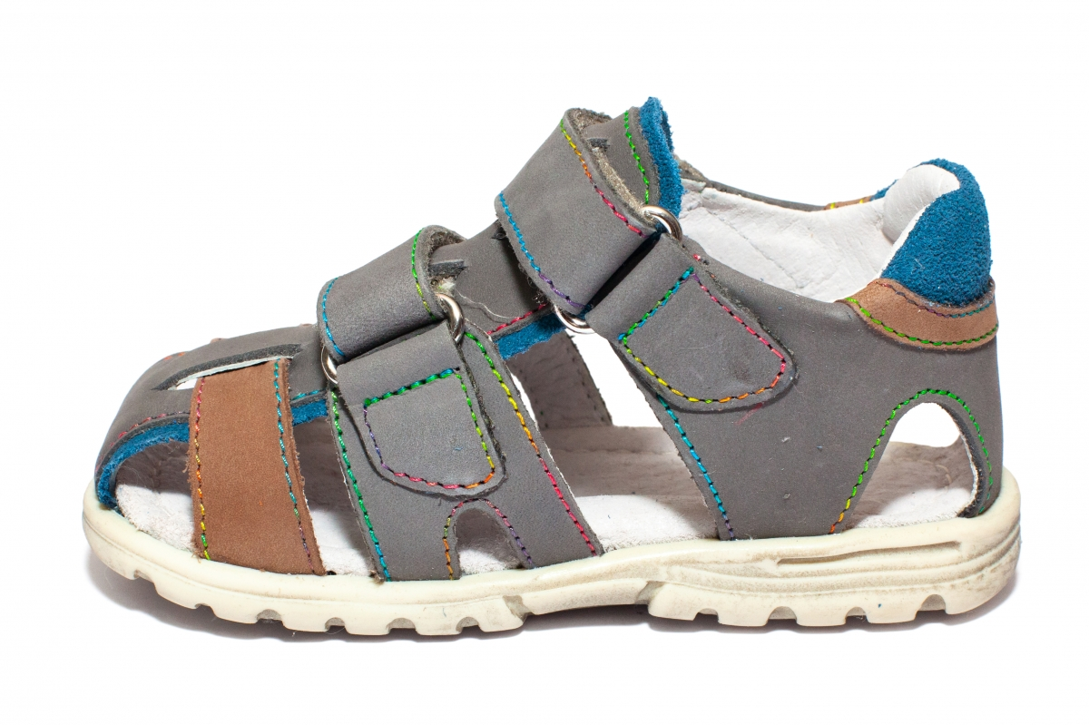 Sandalute copii hokide picior lat 357 gri albastru 22-32
