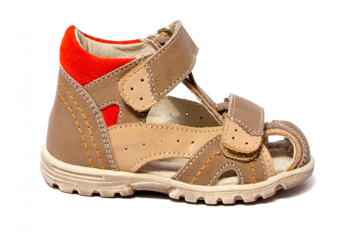Sandalute copii inalte pe glezna hokide 311 bej port 18-25