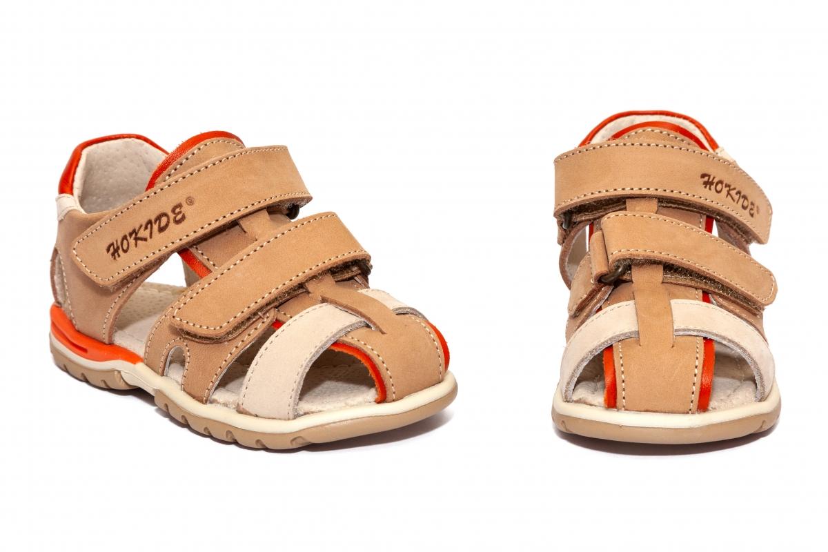 Sandalute copii picior lat hokide 357 bej port 22-32