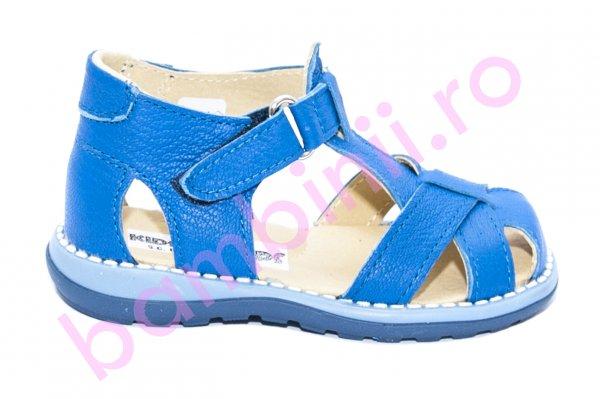 Sandalute copii piele 346 albastru 18-25
