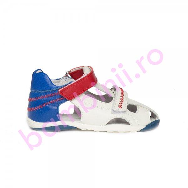 Sandalute copii pj shoes Mario albastru alb rosu 18-26