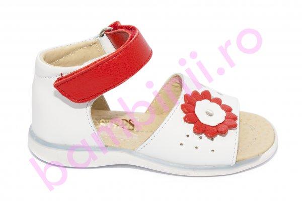 Sandalute fete 1412 alb rosu 18-25