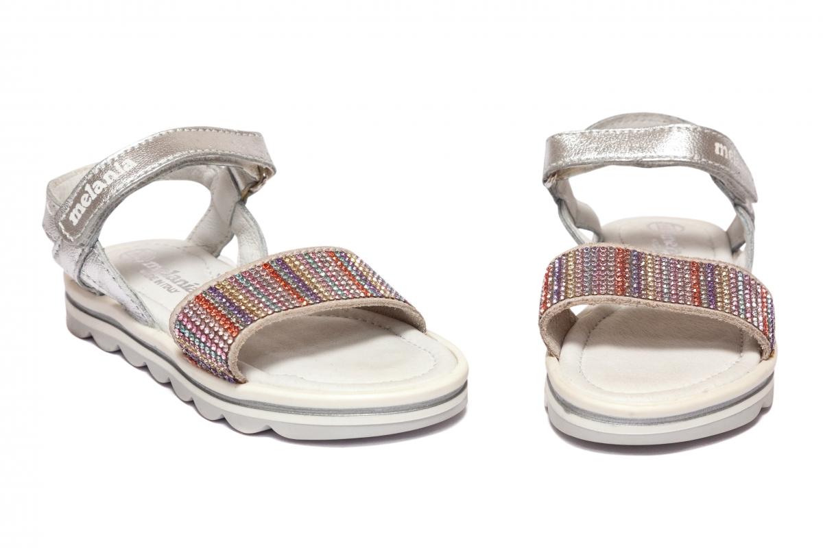 Sandalute fete Melania 8147 argintiu 19-25