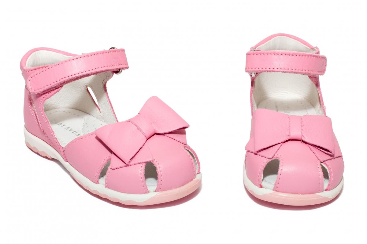 Sandalute fete avus piele 743 roz 19-26