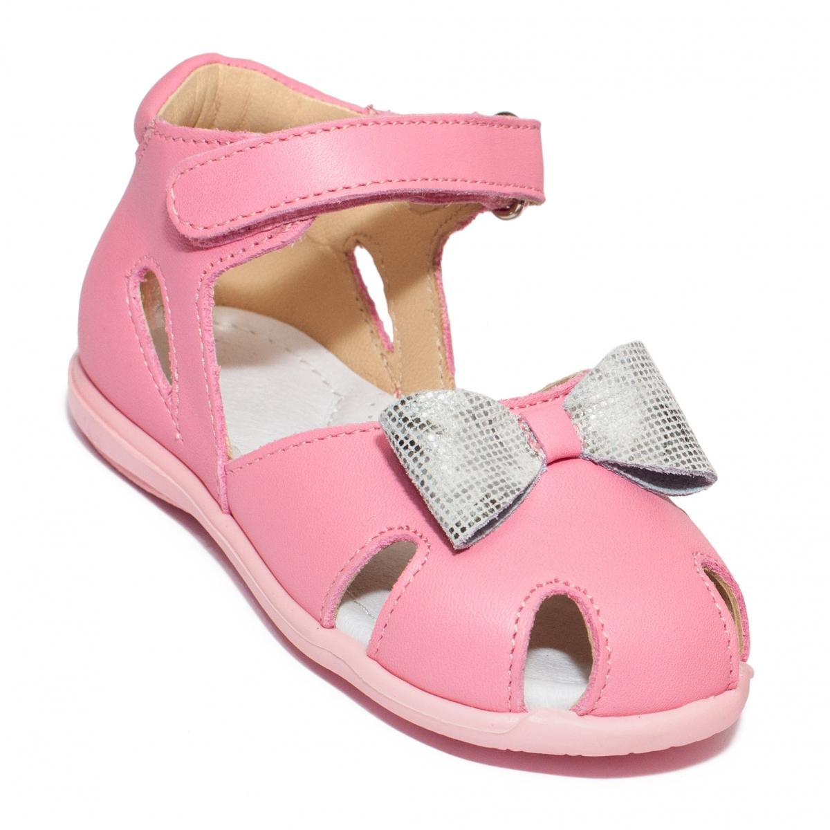 Sandalute fete avus piele 743 roz arg 18-26