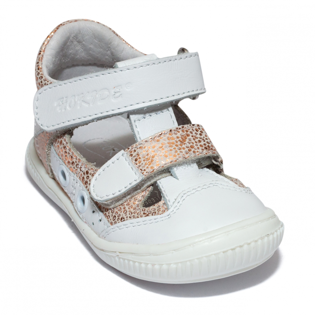 Sandalute fete flexibile hokide 386 alb arg 18-25