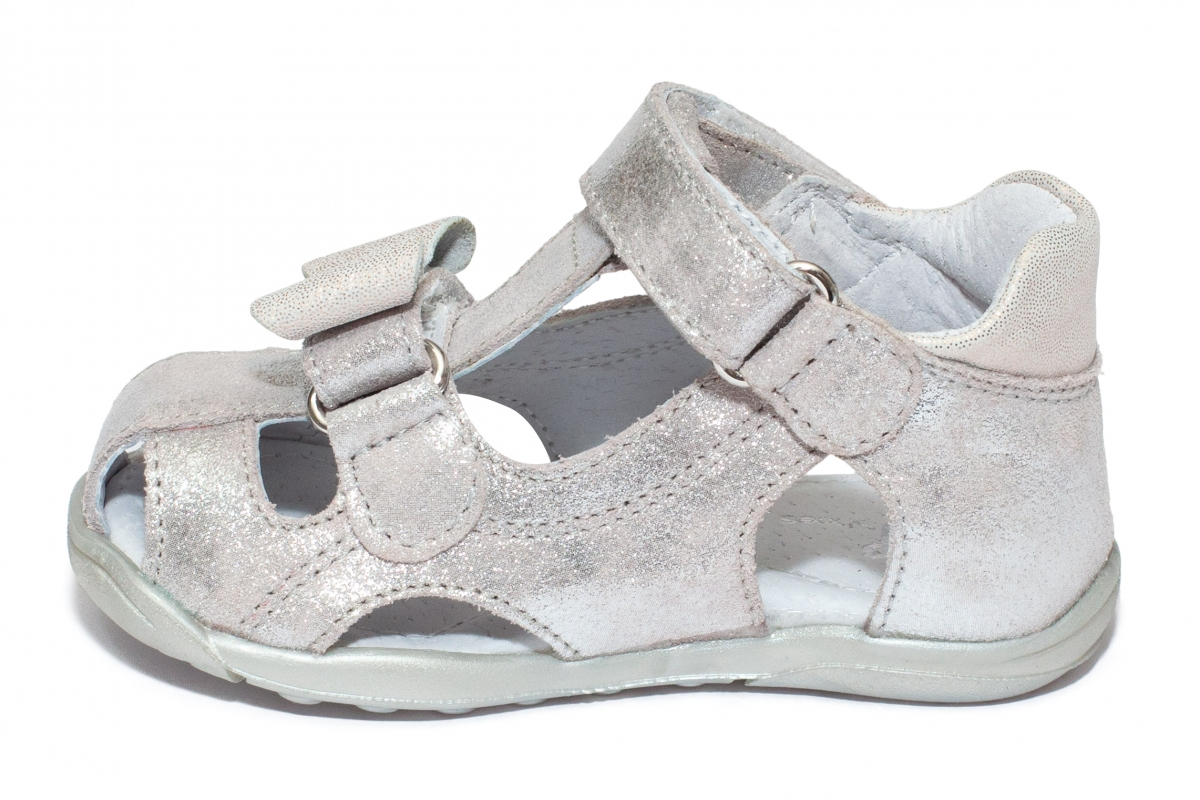 Sandalute fete flexibile pj shoes Mario argintiu 18-26