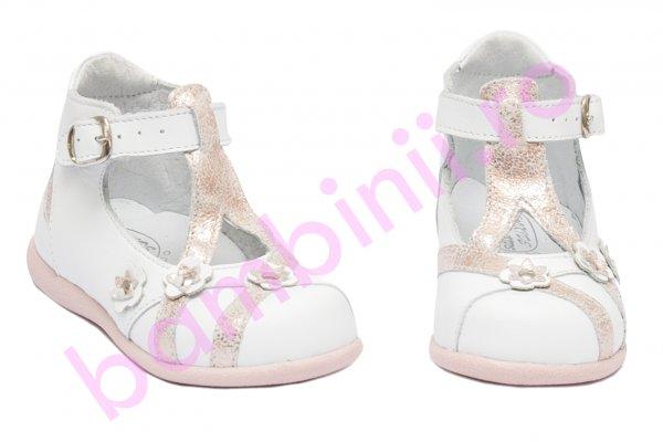 Sandalute fete hokide 307 alb roz sidef 17-24