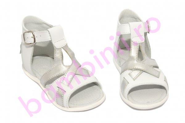Sandalute fete hokide 313 alb 18-24