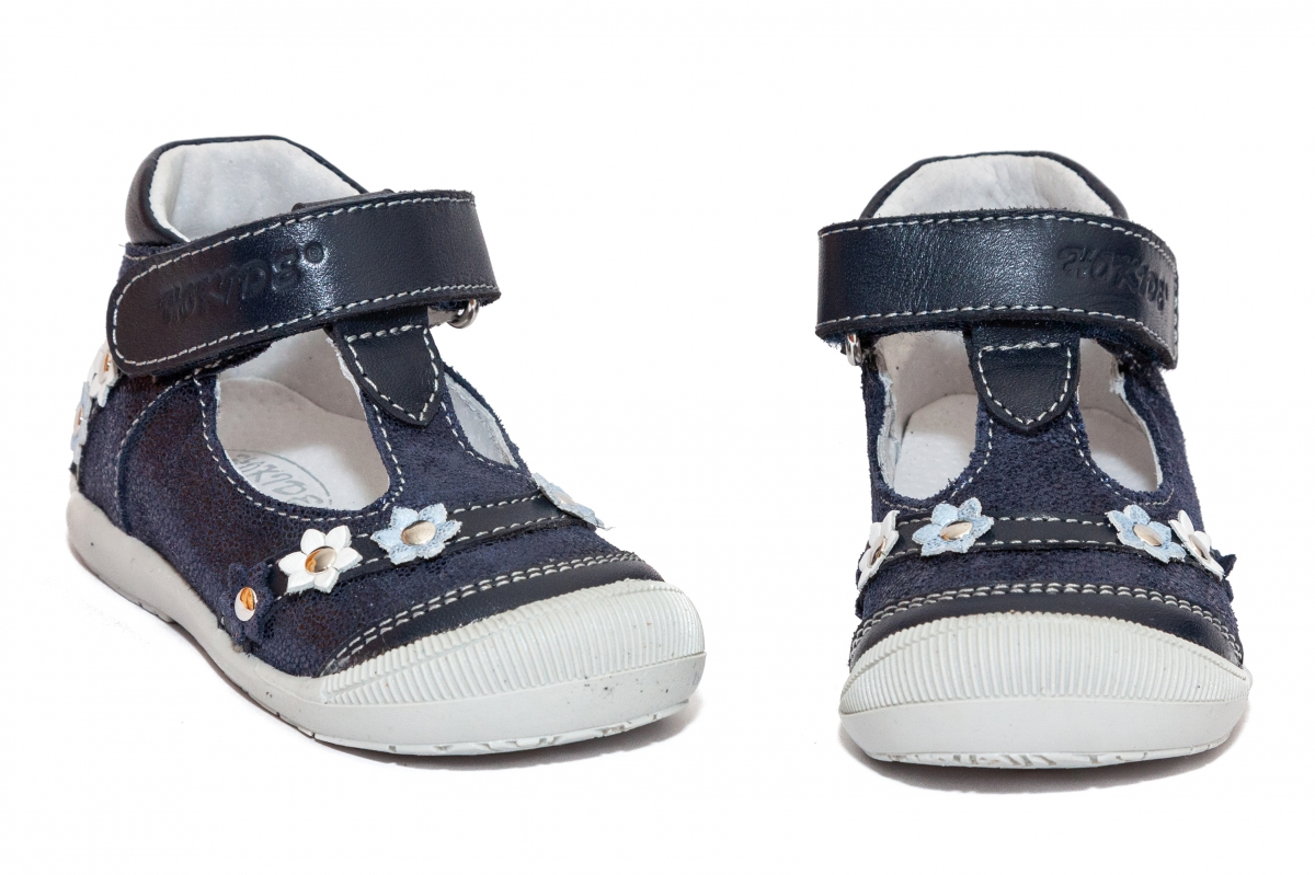 Sandalute fete inalt pe glezna hokide 403 blu lux 18-24