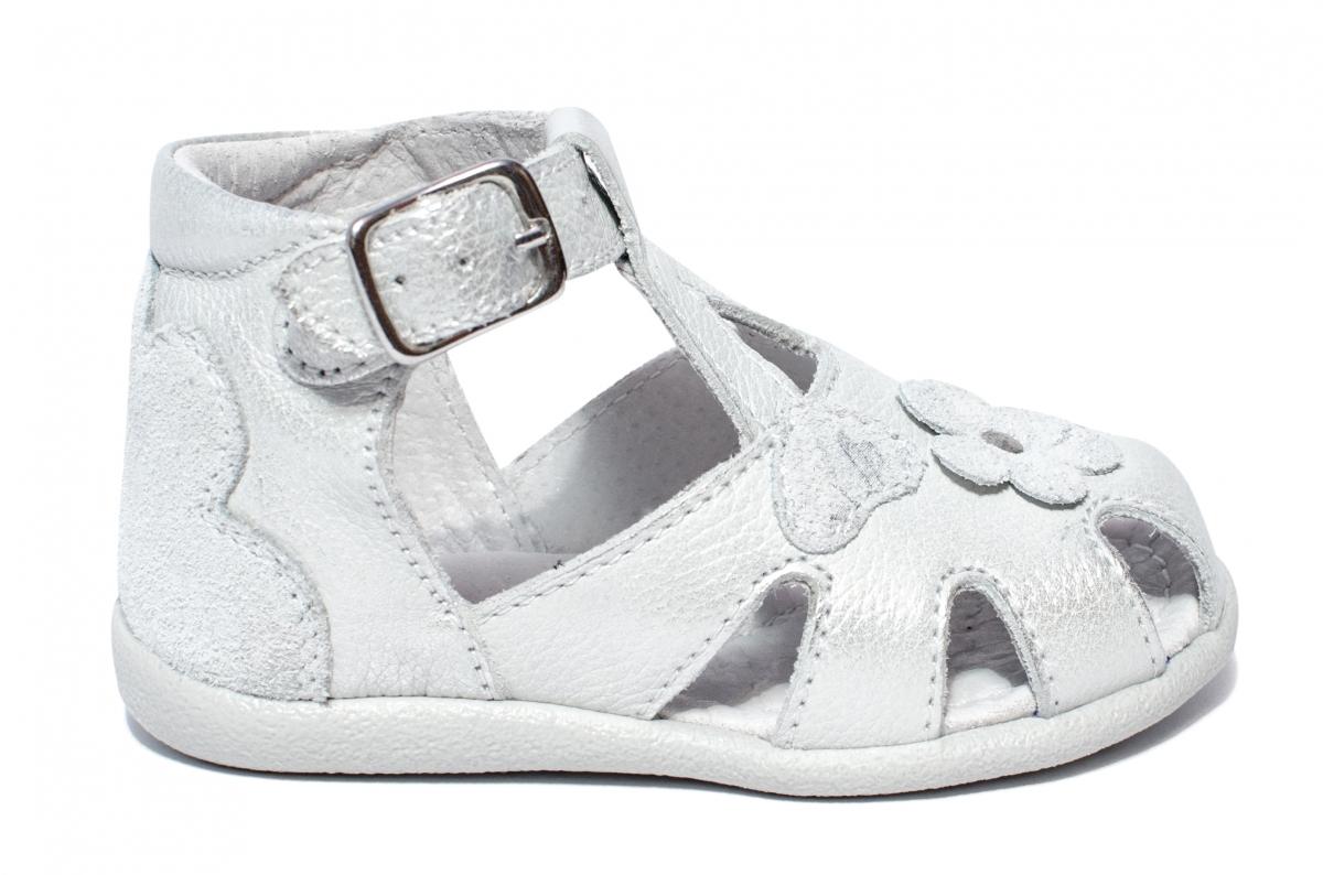 Sandalute fete inalte pe glezna 77 argintiu 18-24
