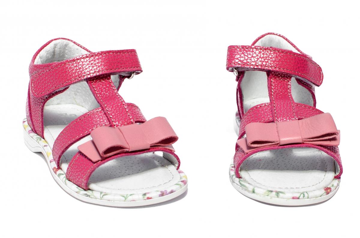 Sandalute fete inalte pe glezna Eva roz 20-26