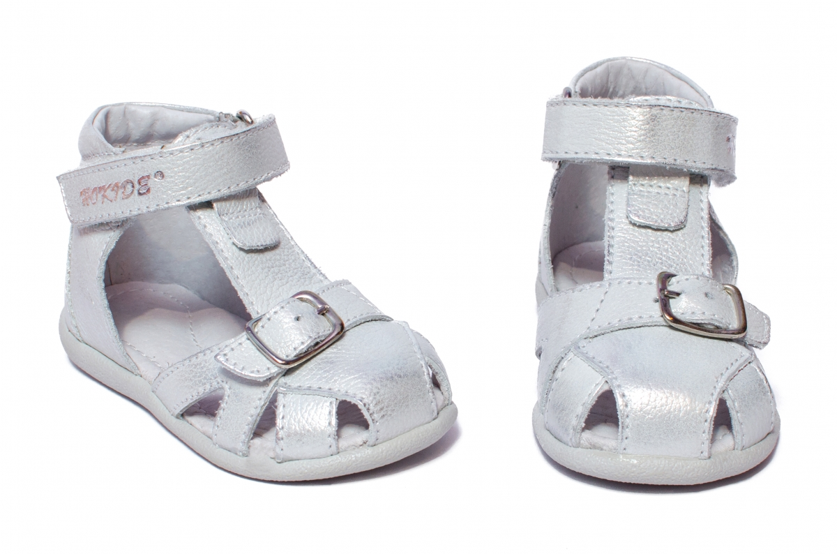 Sandalute fete inalte pe glezna hokide 231 argintiu 18-24