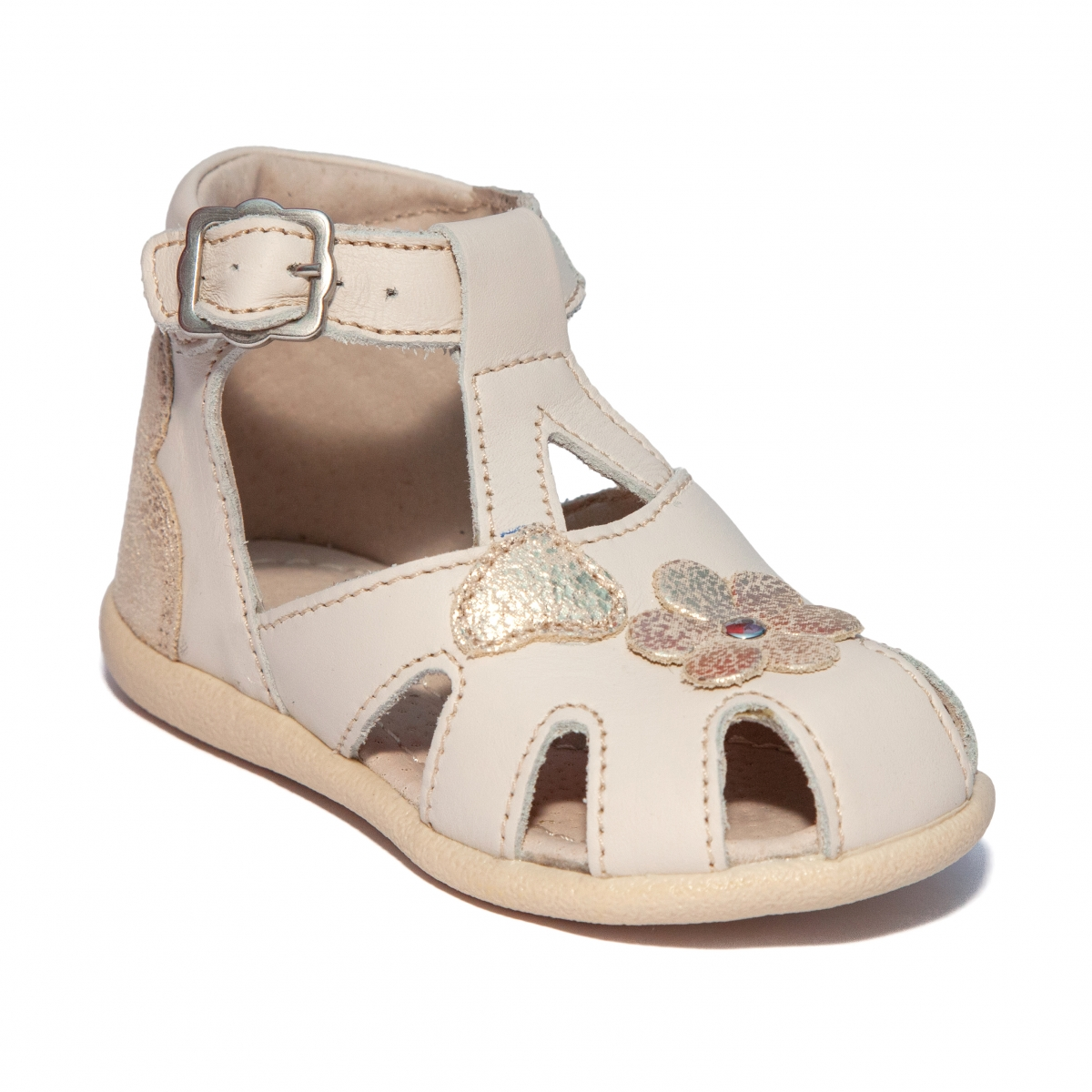 Sandalute fete inalte pe glezna hokide 77 crem 18-24
