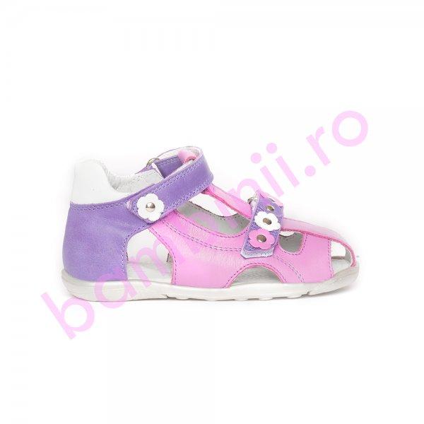 Sandalute fete pj shoes Mario mov roz 18-26