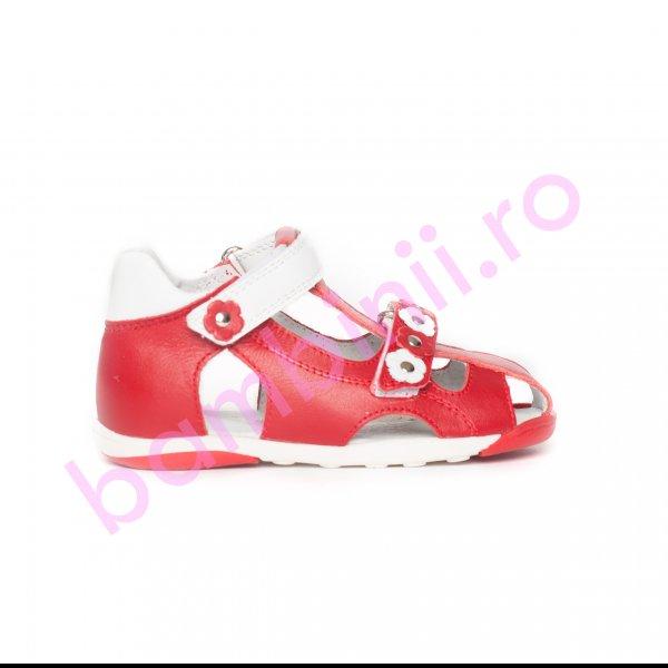 Sandalute fete pj shoes Mario rosu alb 18-26
