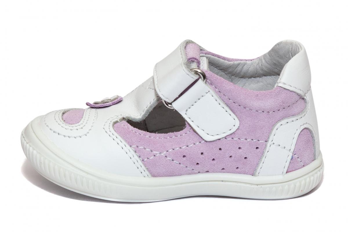 Sandalute fetite hokide 208 alb lila 18-25