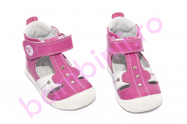 Sandalute fetite hokide 273 roz alb 18-24