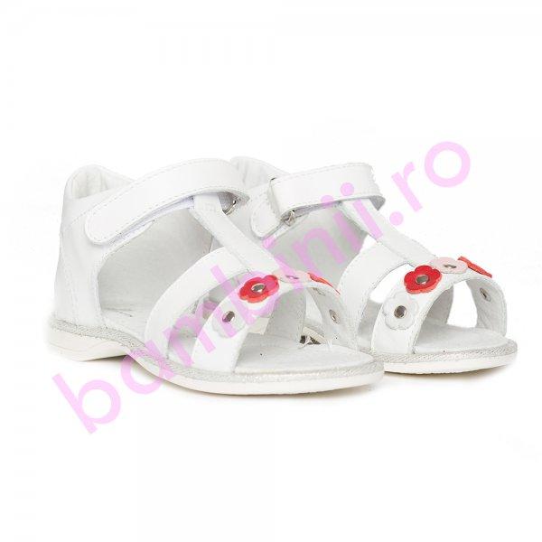 Sandalute fetite pj shoes Eva alb 20-26