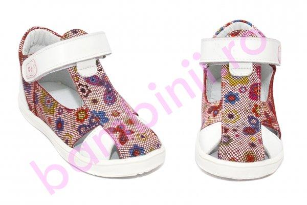 Sandalute fetite pj shoes Pablo rosu alb 18-26