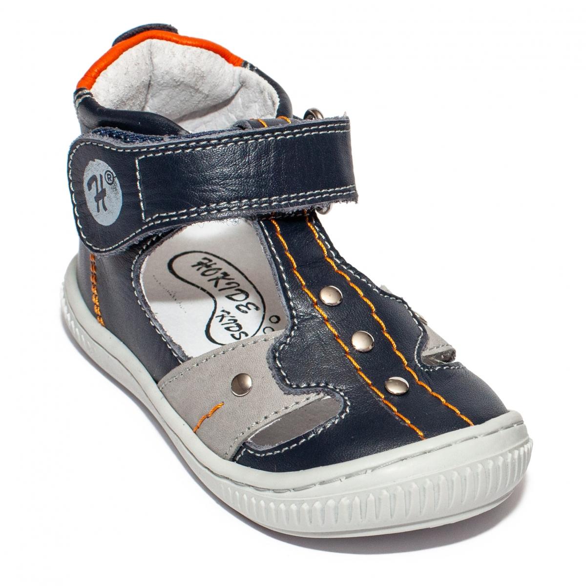Sandalute ortopedice fete hokide 273 bordo bej 18-25