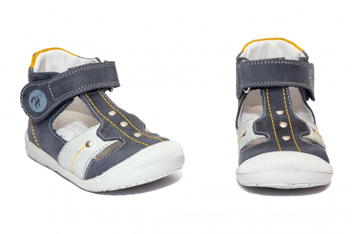 Sandalute ortopedice copii 273 blu gri galben 18-24