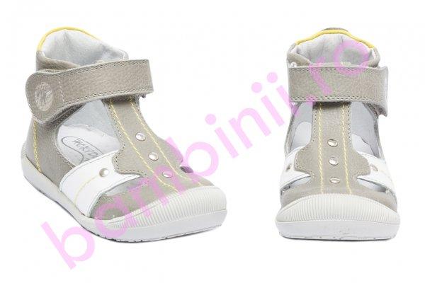 Sandalute ortopedice copii hokide 273 gri alb 18-24
