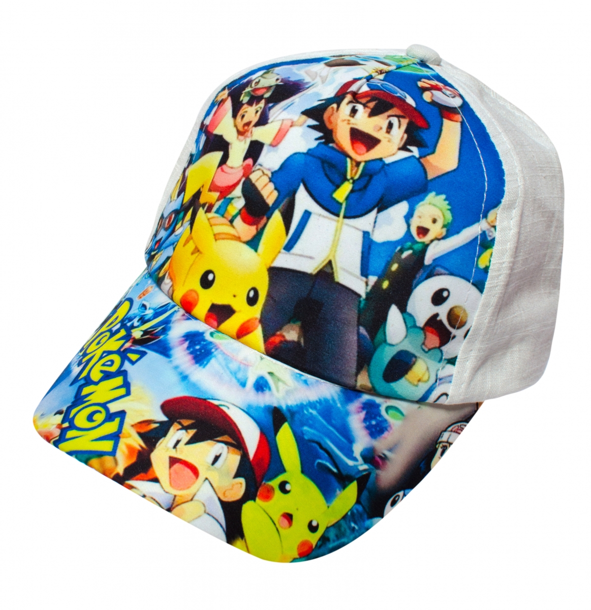 Sapca copii Pokemon alb albastru 46-52