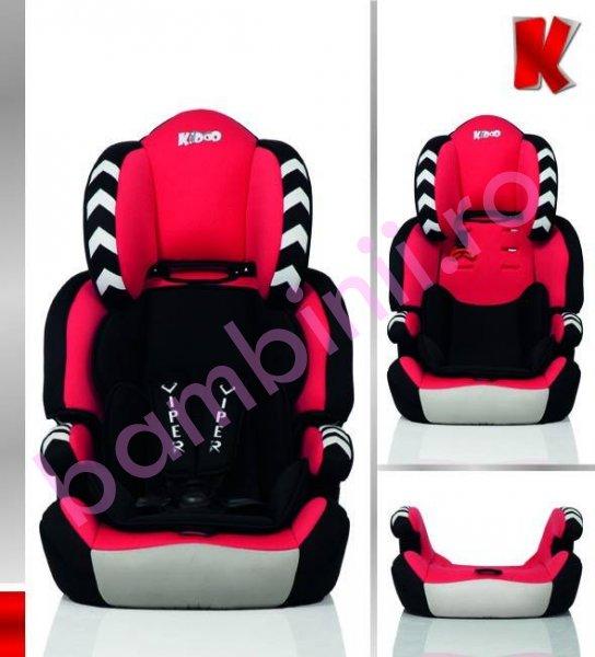 Scaun auto copii Viper Kiddo 9luni-12ani negru rosu