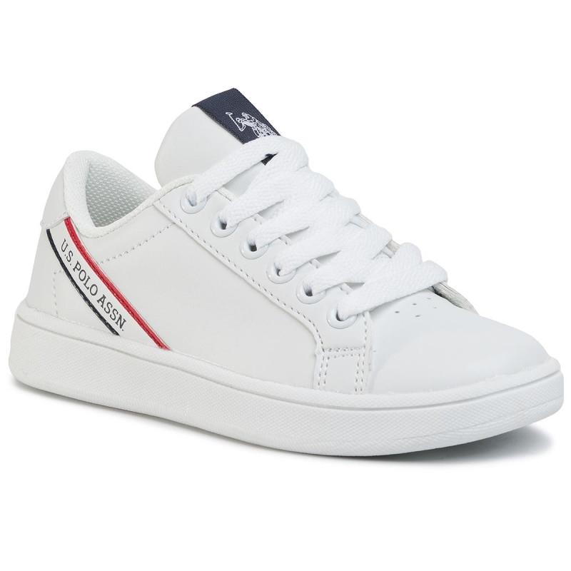 Sneakers copii U.S. POLO ASSN Adrian alb 26-40
